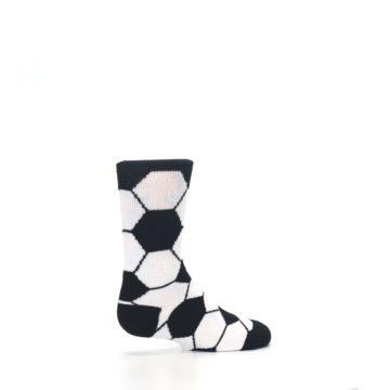 Image of Black White Soccer Ball Kid's Dress Socks (side-1-23)