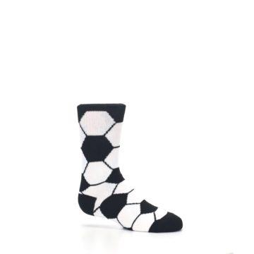 Image of Black White Soccer Ball Kid's Dress Socks (side-1-25)