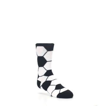 Image of Black White Soccer Ball Kid's Dress Socks (side-1-27)
