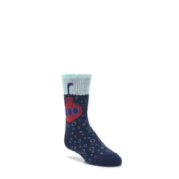 3-6Y-Navy-Red-Submarine-Kids-Dress-Socks-K-Bell