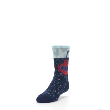 Image of Navy Red Submarine Kid's Dress Socks (side-2-front-07)