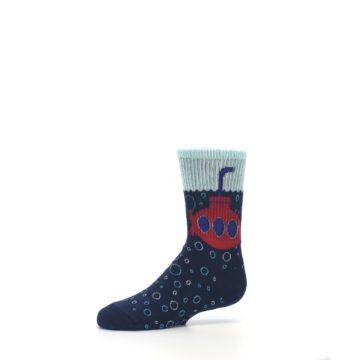 Image of Navy Red Submarine Kid's Dress Socks (side-2-10)
