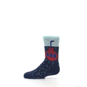 Image of Navy Red Submarine Kid's Dress Socks (side-2-12)