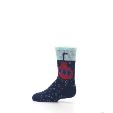 Image of Navy Red Submarine Kid's Dress Socks (side-2-13)