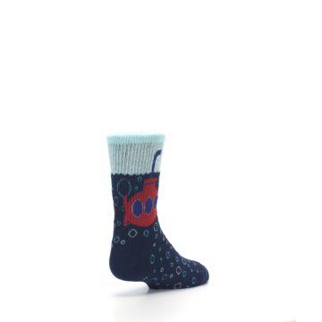 Image of Navy Red Submarine Kid's Dress Socks (side-1-back-21)