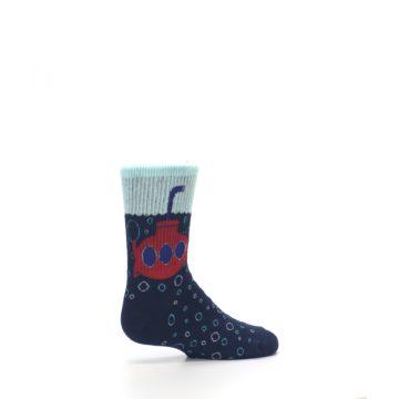 Image of Navy Red Submarine Kid's Dress Socks (side-1-23)