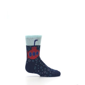 Image of Navy Red Submarine Kid's Dress Socks (side-1-24)