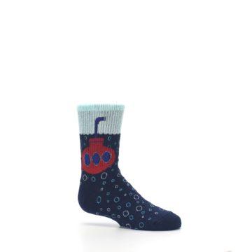 Image of Navy Red Submarine Kid's Dress Socks (side-1-25)