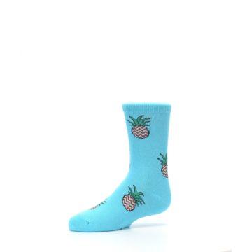 Image of Blue Pineapples Kid's Dress Socks (side-2-10)