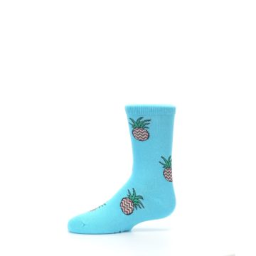 Image of Blue Pineapples Kid's Dress Socks (side-2-11)