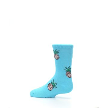 Image of Blue Pineapples Kid's Dress Socks (side-2-13)