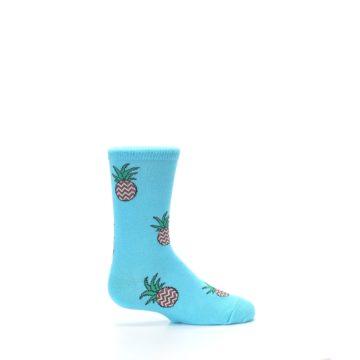 Image of Blue Pineapples Kid's Dress Socks (side-1-24)