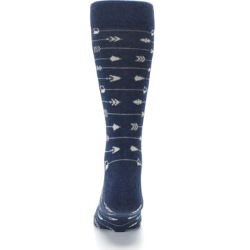 Image of Navy Gray Arrows Men's Dress Socks (back-18)