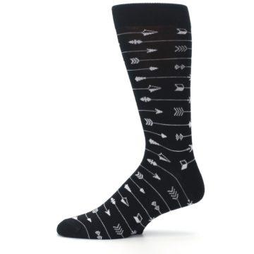 Image of Black White Arrows Men's Dress Socks (side-2-11)