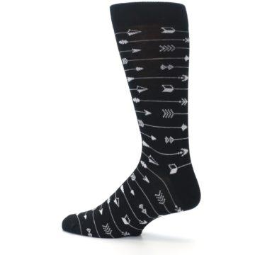 Image of Black White Arrows Men's Dress Socks (side-2-13)