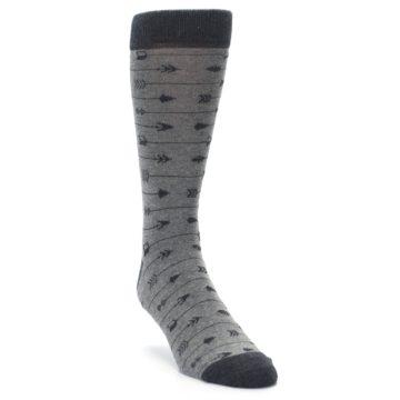Image of Gray Arrows Men's Dress Socks (side-1-front-02)