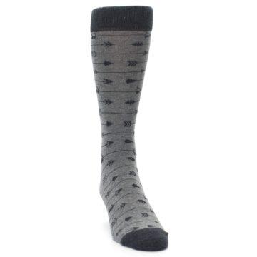 Image of Gray Arrows Men's Dress Socks (side-1-front-03)