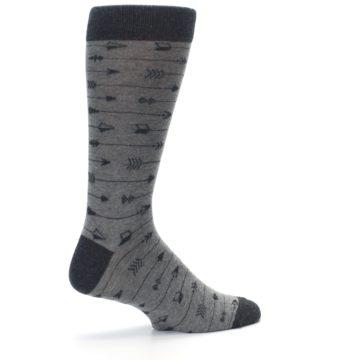 Image of Gray Arrows Men's Dress Socks (side-1-23)