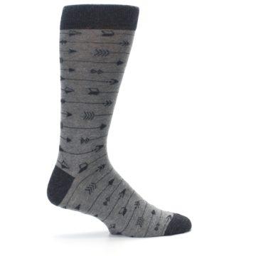 Image of Gray Arrows Men's Dress Socks (side-1-24)