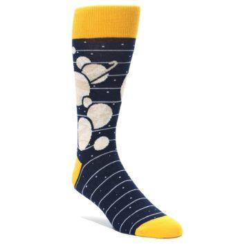 Outer space solar system planet socks for men