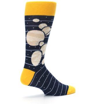 Image of Navy Beige Solar System Men's Dress Socks (side-1-23)