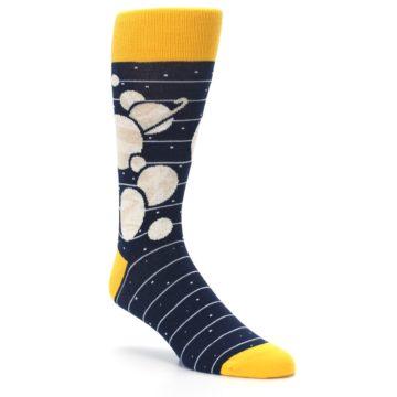Image of Navy Beige Solar System Men's Dress Socks (side-1-27)