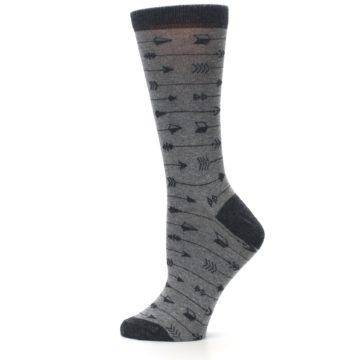 Image of Gray Arrows Women's Dress Socks (side-2-12)