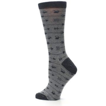 Image of Gray Arrows Women's Dress Socks (side-2-13)