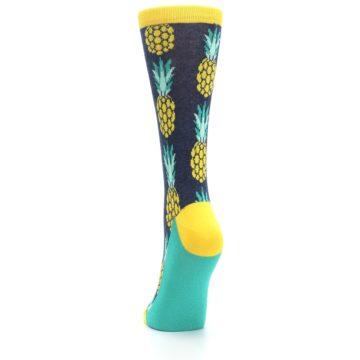 Image of Navy Yellow Pineapple Women's Dress Socks (back-17)