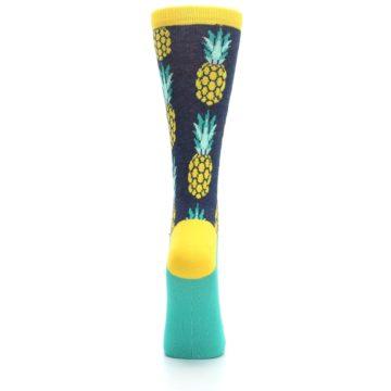Image of Navy Yellow Pineapple Women's Dress Socks (back-19)