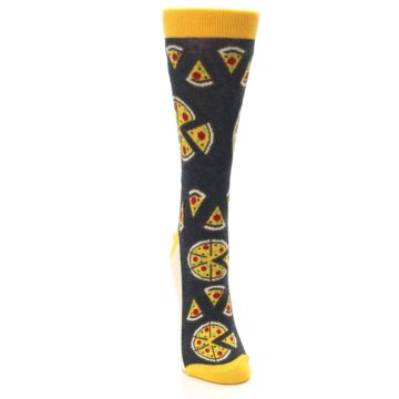 Image of Gray Yellow Pizza Women's Dress Socks (front-04)