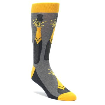 Men's Novelty Champagne Bottle Celebration Socks