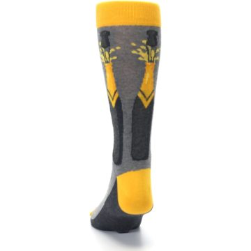 Image of Yellow Pop the Champagne Men's Dress Socks (back-17)