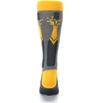 Image of Yellow Pop the Champagne Men's Dress Socks (back-18)