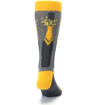 Image of Yellow Pop the Champagne Men's Dress Socks (back-19)