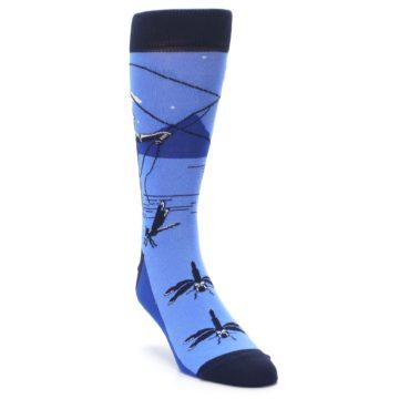 Image of Blue Navy Fly Fishing Men's Dress Socks (side-1-front-02)
