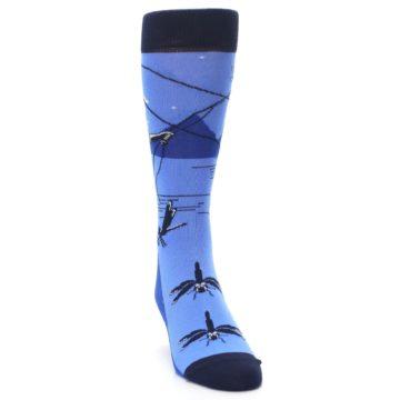 Image of Blue Navy Fly Fishing Men's Dress Socks (side-1-front-03)