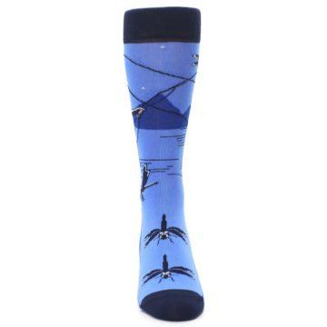 Image of Blue Navy Fly Fishing Men's Dress Socks (front-04)