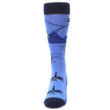 Image of Blue Navy Fly Fishing Men's Dress Socks (front-05)