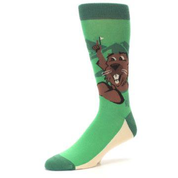 Image of Green Go-For-It Gopher Golf Men's Dress Socks (side-2-09)