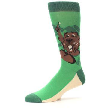 Image of Green Go-For-It Gopher Golf Men's Dress Socks (side-2-10)