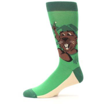 Image of Green Go-For-It Gopher Golf Men's Dress Socks (side-2-11)