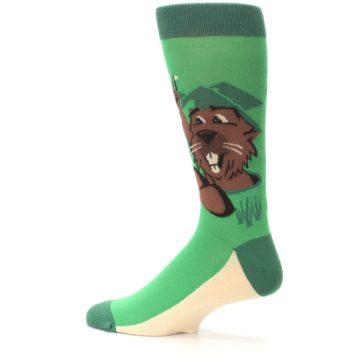 Image of Green Go-For-It Gopher Golf Men's Dress Socks (side-2-13)