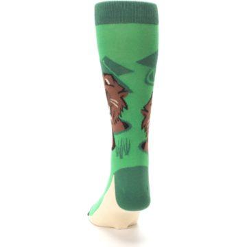 Image of Green Go-For-It Gopher Golf Men's Dress Socks (back-17)