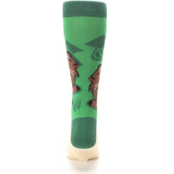 Image of Green Go-For-It Gopher Golf Men's Dress Socks (back-18)
