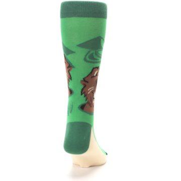 Image of Green Go-For-It Gopher Golf Men's Dress Socks (back-19)