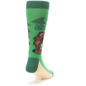 Image of Green Go-For-It Gopher Golf Men's Dress Socks (side-1-back-20)
