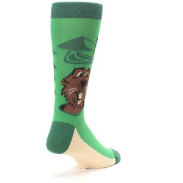 Image of Green Go-For-It Gopher Golf Men's Dress Socks (side-1-back-21)