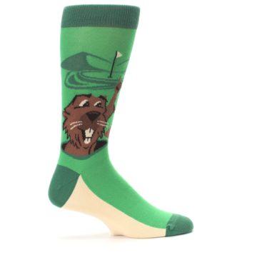Image of Green Go-For-It Gopher Golf Men's Dress Socks (side-1-24)