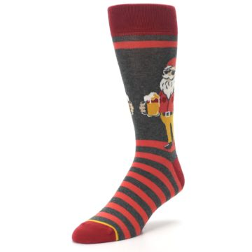 Image of Red Hipster Gnomes Men's Dress Socks (side-2-front-08)